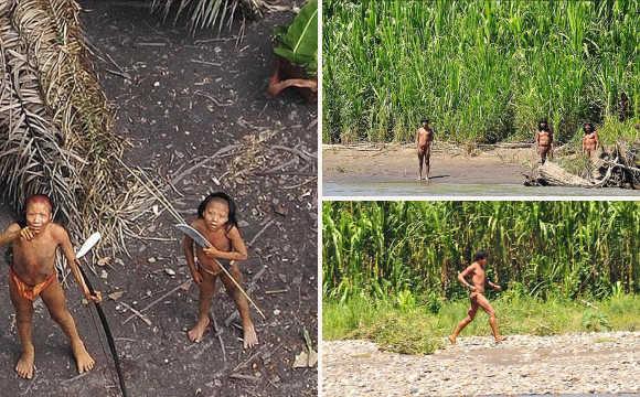 了世界上最后一个与世隔绝的亚马逊原始部落居民出现